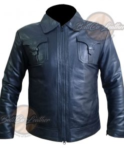 CUSTOM MOTORBIKE BLACK LEATHER GEAR front