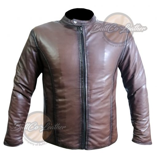 CUSTOM MOTORCYCLE BROWN LEATHER GEAR front