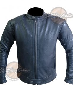 CUSTOM HEAVY BIKE BLACK LEATHER GEAR front