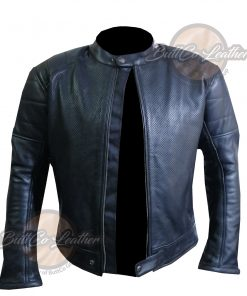 CUSTOM HEAVY BIKE BLACK LEATHER GEAR open