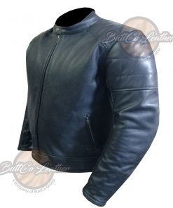 CUSTOM HEAVY BIKE BLACK LEATHER GEAR side