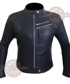 CUSTOM 4581 HEAVY BIKE LEATHER JACKET FRONT