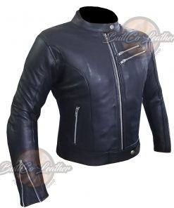 CUSTOM 4581 HEAVY BIKE LEATHER JACKET SIDE