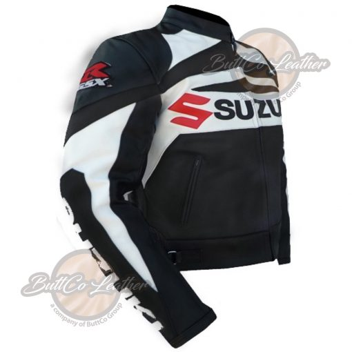 SUZUKI MOTORCYCLE BLACK LEATHER GEAR sied