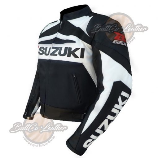 SUZUKI MOTORCYCLE BLACK LEATHER GEAR side2