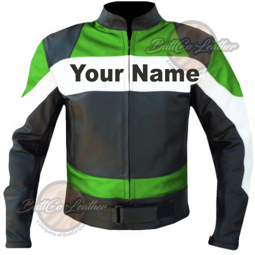 CUSTOM MOTORCYCLE GREY LEATHER GEAR front