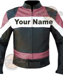 CUSTOM HEAVY BIKE PINK LEATHER GEAR front