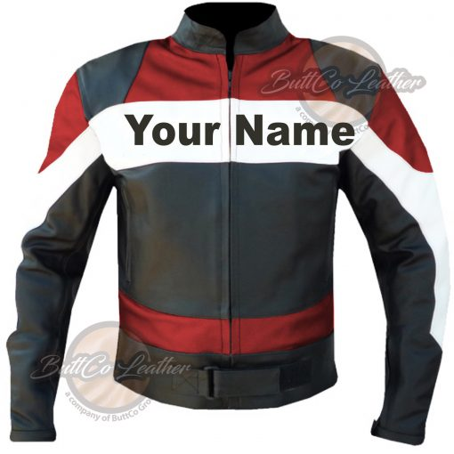 CUSTOM HEAVY BIKE RED LEATHER GEAR font