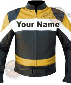 CUSTOM HEAVY BIKE LEATHER LEATHER COAT front