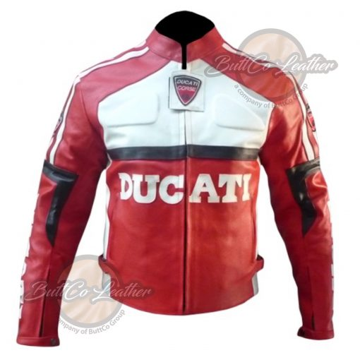 DUCATI MOTORCYCLE LEATHER JACKET front