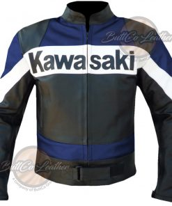 Kawasaki Heavy Bike Leather Jacket front