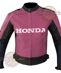 HONDA HEAVY BIKE LEATHER COAT front