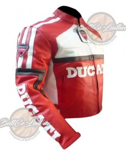 DUCATI MOTORCYCLE LEATHER JACKET side