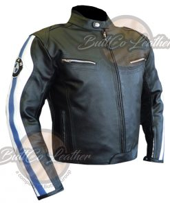 BMW Heavy bike Leather Jacket front