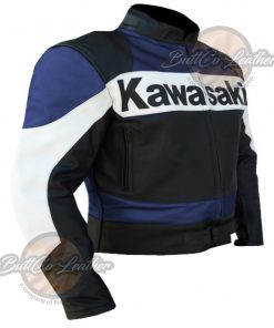 Kawasaki Heavy Bike Leather Jacket side