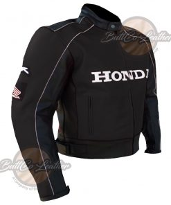 HONDA HEAVY BIKE BLACK LEATHER GEAR side