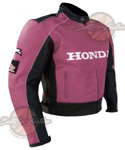 HONDA HEAVY BIKE LEATHER COAT side