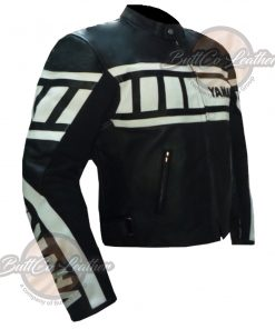 YAMAHA 0120 LAMBSKIN LEATHER COAT side