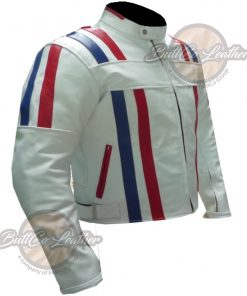 CUSTOM MOTORCYCLE WHITE LEATHER GEAR side2