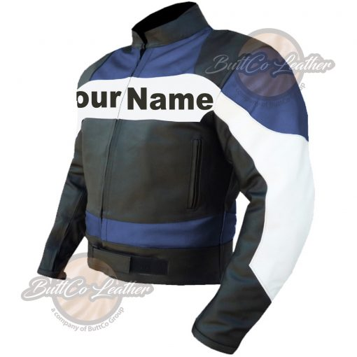 CUSTOM MOTORCYCLE NAVY BLUE LEATHER GEAR tight