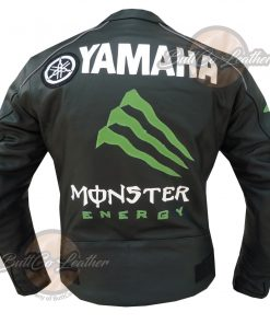 YAMAHA BLACK MONSTER LEATHER JACKET back