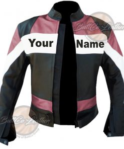 CUSTOM HEAVY BIKE PINK LEATHER GEAR open