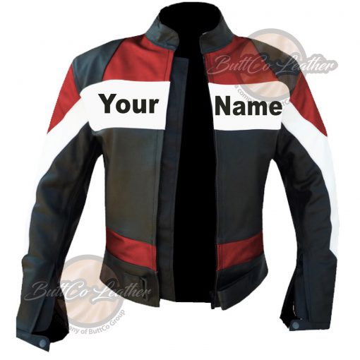 CUSTOM HEAVY BIKE RED LEATHER GEAR open