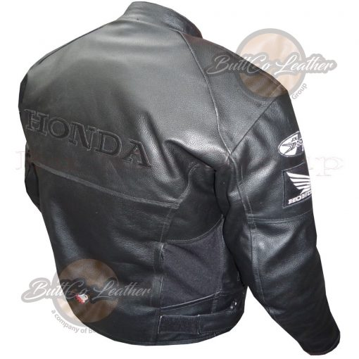 HONDA HEAVY BIKE LEATHER GEAR back