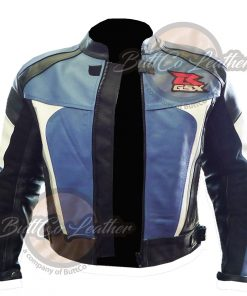 SUZUKI MOTORCYCLE BLUE LEATHER GEAR OPEN