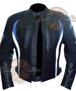 BMW MOTORCYCLE LEATHER JACKET open