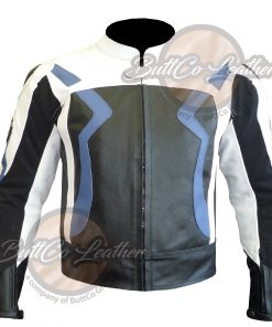BMW MOTORCYCLE LEATHER JACKET front