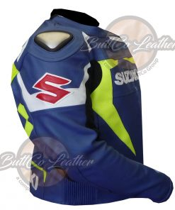 SUZUKI MOTORCYCLE LEATHER JACKET side