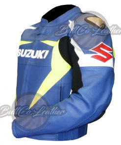 SUZUKI MOTORCYCLE LEATHER JACKET side2