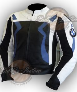 BMW MOTORCYCLE LEATHER JACKET front 3