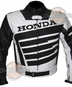 HONDA  BLACK LEATHER GEAR front