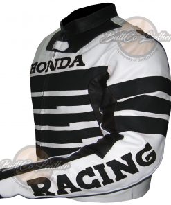HONDA  BLACK LEATHER GEAR side