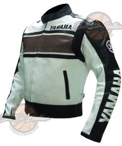 YAMAHA BIKERS BROWN LEATHER GEAR side2